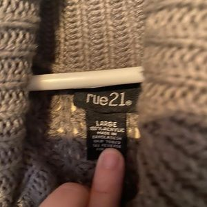 Waffle knit Cowl neck sweater